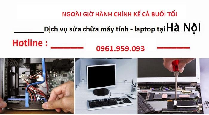 Doanh nghiệp Sửa máy tính ở tại nhà ngoài giờ hành chính