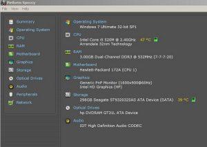 Cách kiểm tra nhiệt độ các thiết bị CPU, ổ cứng, card màn hình máy tính