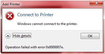 Lỗi máy tính không nhận máy in