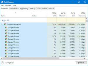 Máy tính chạy chậm tắt ngay trình duyệt Chrome